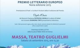 """IX° edizione del Premio Letterario Europeo: """"Massa città fiabesca di mare e di marmo"""""""