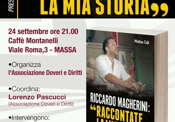Giovedì sera a Massa presentazione del libro su Riccardo Magherini
