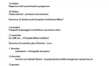 Lunigiana. Il programma di Lunicafoto.