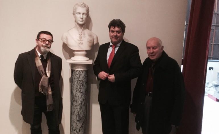 Il busto del Granduca Leopoldo di Toscana in esposizione al Museo d'Arte Sacra di Fivizzano