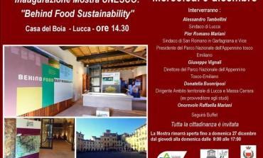 Lucca: Inaugurazione della mostra Unesco ''Behind Food Sustainability - Il Cibo e l'Ambiente''