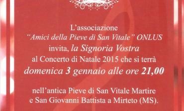 Massa: Concerto di Natale, dopo il restauro e la ristrutturazione della Pieve di San Vitale