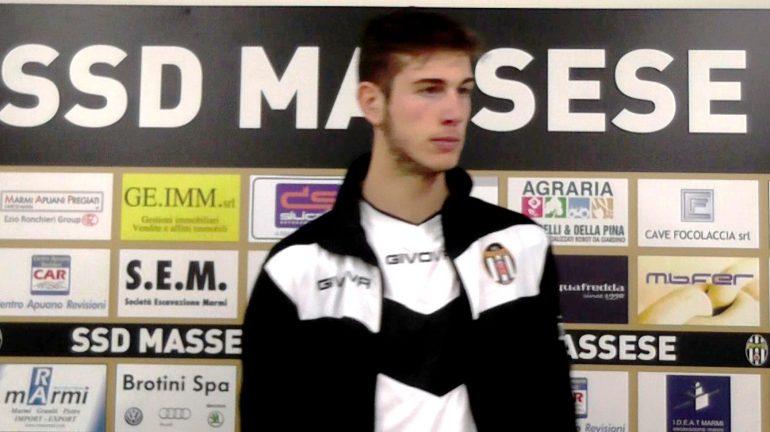 Intervista a Cristian Cauz, esterno sinistro della Massese dopo il pareggio interno con la Pianese del 10/01/16