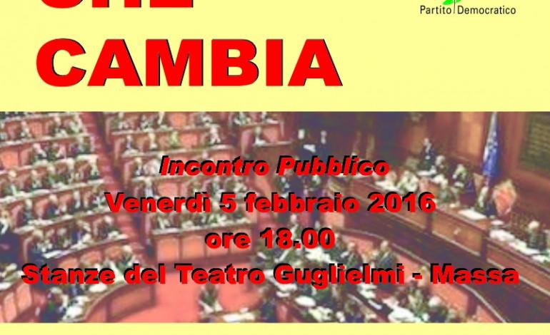 Venerdì 5 febbraio ore 18:00, si parla delle riforme costituzionali alle Stanze del Guglielmi