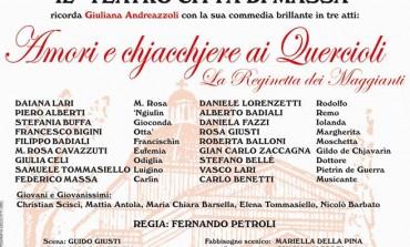 """Massa, al Guglielmi in scena la commedia dialettale: """"Amori e chjacchjere ai Quercioli"""""""
