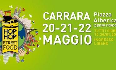 """Carrara: Dal 20 al 22 maggio """"Hop Hop Street Food"""", tre giorni all'insegna del cibo"""