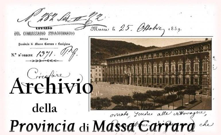 Una memoria che non si cancella: l''archivio della Provincia, un patrimonio storico di 160 anni rivive anche con un blog