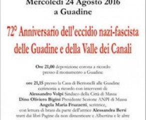 72° anniversario dell'eccidio nazi-fascista delle Guadine e della Valle dei Canali