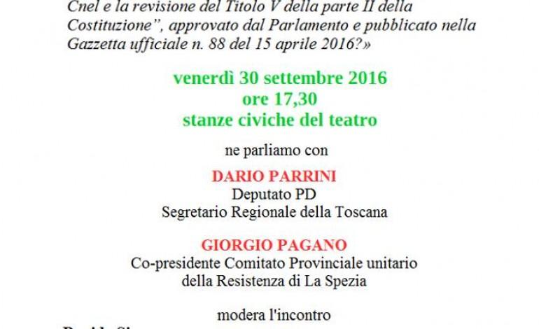 PONTREMOLI – Incontro sul referendum costituzionale con Dario Parrini, Giorgio Pagano e Giacomo Bugliani. Modera Davide Simone.