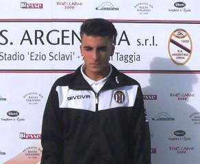 Video intervista ad Alessandro Cangemi, centrocampista della Massese, dopo la vittoria per 2 ad 1 ad Arma di Taggia del 16/10/16