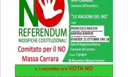 Anpi Carrara, Francesco Baicchi e Andrea Ranieri: Le ragioni del NO