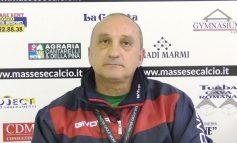 Conferenza stampa di L. Magrini, prima di U. Sanremo - Massese.  Del 23/02/18.