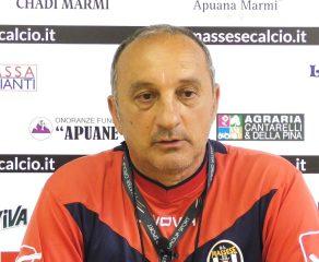Video esclusivo della conferenza stampa di L. Magrini prima di Massese – R. F. Querceta. Dello 04/05/18