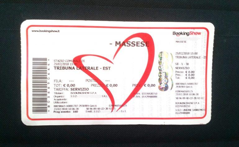 Massese – Viareggio 2014: limitazione alla vendita dei titoli d'ingresso.