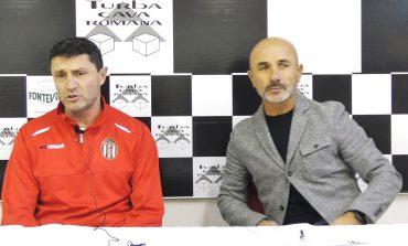 Conferenza stampa V. Bonuccelli ed M. Manfredi prima di Sinalunghese - Massese . Dell'11/01/19