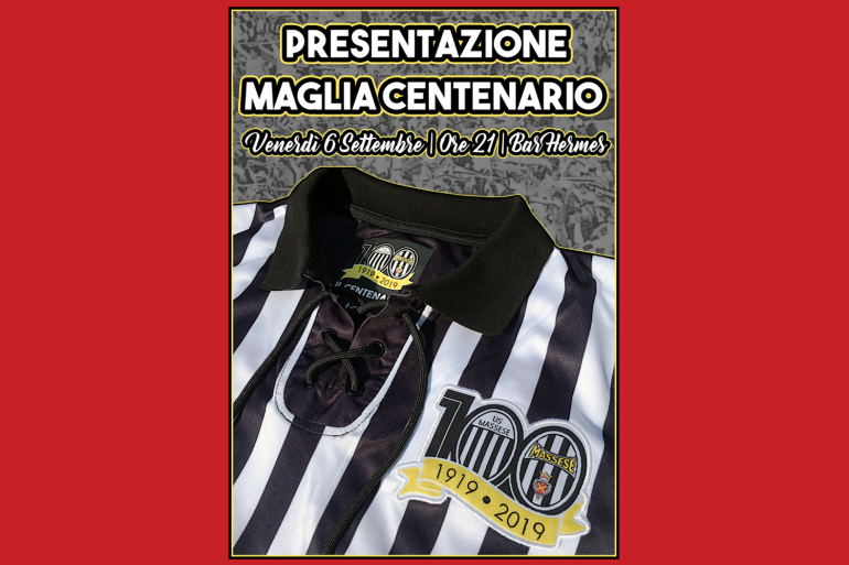 Arrivate le maglie celebrative del centenario.