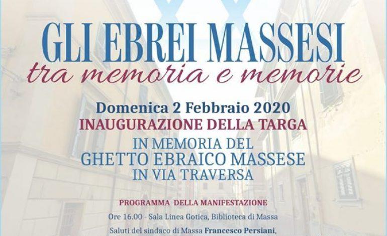 """""""GLI EBREI MASSESI TRA MEMORIA E MEMORIE"""" – Inaugurazione di una targa nell'antico ghetto di Massa"""