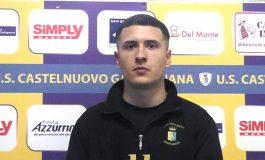Castelnuovo Garfagnana - Massese 2 - 0. Video intervista esclusiva di Umberto Meruzzi a D. Leon dello 09/02/20