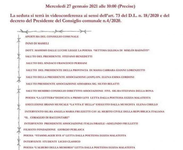 GIORNO DELLA MEMORIA - Il figlio di Giorgio Perlasca e altri ospiti importanti con l'Associazione Italia-Israele di Massa Carrara
