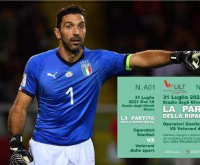 """Messaggio di Gigi Buffon a supporto de """"La Partita della Ripartenza"""" e punti vendita biglietti."""